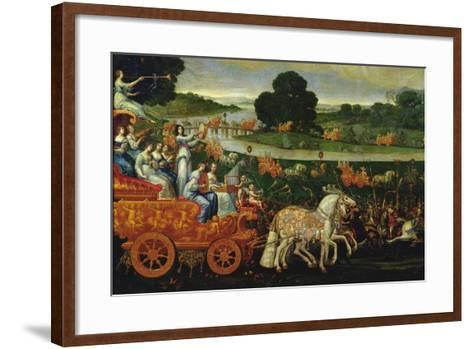 Earth, Detail of the Left Carriage with Nine Muses, C.1640-41-Claude Deruet-Framed Art Print