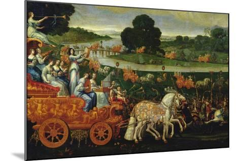 Earth, Detail of the Left Carriage with Nine Muses, C.1640-41-Claude Deruet-Mounted Giclee Print