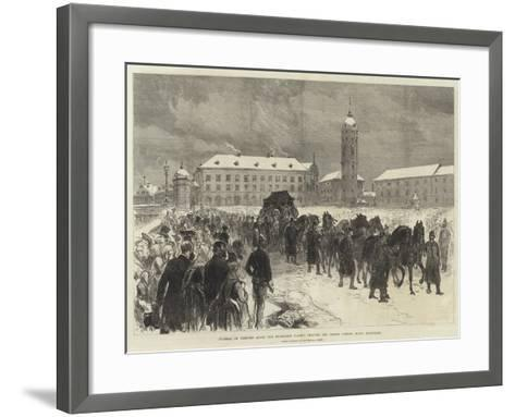 Funeral of Princess Alice, the Procession Passing Through the Ernest Ludwig Platz, Darmstadt-Charles Robinson-Framed Art Print