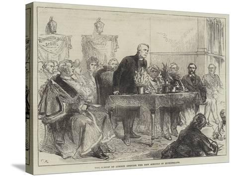 The Bishop of London Opening the New Schools in Bishopsgate-Charles Robinson-Stretched Canvas Print