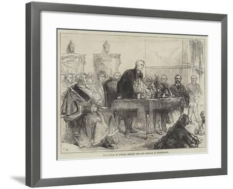 The Bishop of London Opening the New Schools in Bishopsgate-Charles Robinson-Framed Art Print