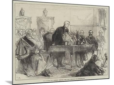 The Bishop of London Opening the New Schools in Bishopsgate-Charles Robinson-Mounted Giclee Print