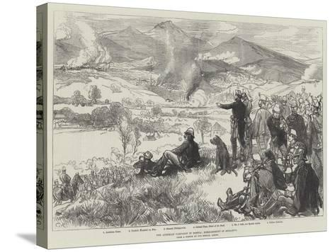 The Austrian Campaign in Bosnia, Bombardment of Serajevo-Charles Robinson-Stretched Canvas Print