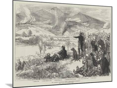 The Austrian Campaign in Bosnia, Bombardment of Serajevo-Charles Robinson-Mounted Giclee Print