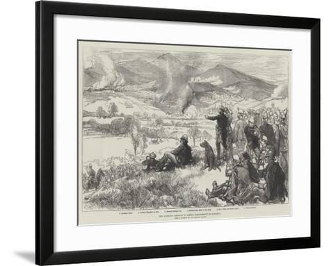 The Austrian Campaign in Bosnia, Bombardment of Serajevo-Charles Robinson-Framed Art Print