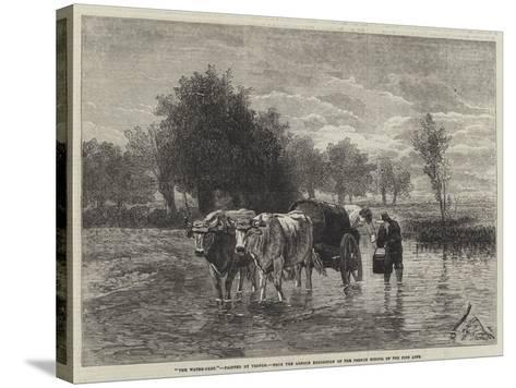 The Water-Cart-Constant-emile Troyon-Stretched Canvas Print