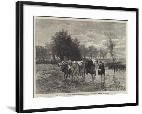 The Water-Cart-Constant-emile Troyon-Framed Art Print