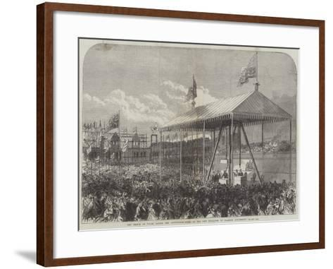 The Prince of Wales Laying the Foundation-Stone of the New Buildings of Glasgow University-Charles Robinson-Framed Art Print