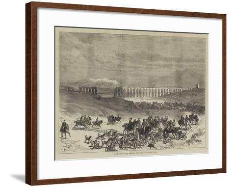 Fox-Hunting in the Campagna, Last Meet of the Roman Hunt-Charles Robinson-Framed Art Print