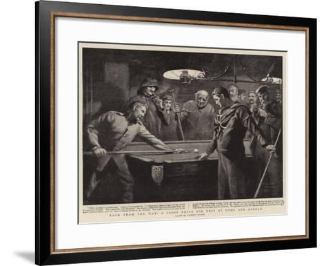 Back from the War, a Close Thing for Best at Home and Abroad-Clement Flower-Framed Art Print