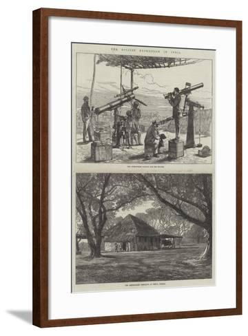 The Eclipse Expedition in India-Charles Robinson-Framed Art Print