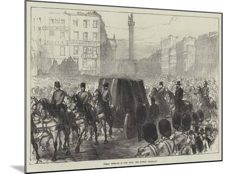 Dublin Obsequies of Lord Mayo, the Funeral Procession-Charles Robinson-Mounted Giclee Print