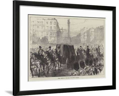 Dublin Obsequies of Lord Mayo, the Funeral Procession-Charles Robinson-Framed Art Print