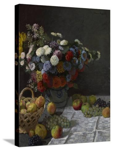 Still Life with Flowers and Fruit, 1869-Claude Monet-Stretched Canvas Print