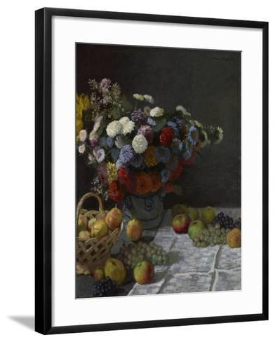 Still Life with Flowers and Fruit, 1869-Claude Monet-Framed Art Print