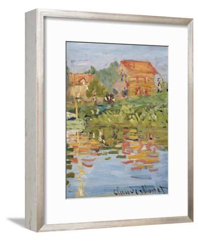 Regattas at Argenteuil, C.1872 (Detail)-Claude Monet-Framed Art Print