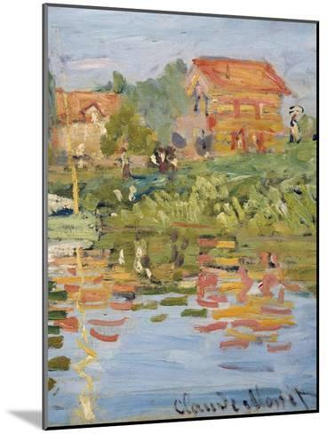 Regattas at Argenteuil, C.1872 (Detail)-Claude Monet-Mounted Giclee Print