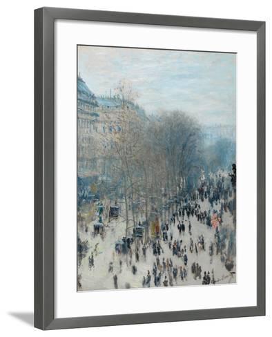 Boulevard Des Capucines, 1873-4-Claude Monet-Framed Art Print