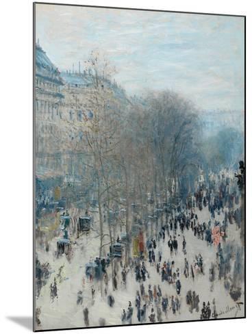 Boulevard Des Capucines, 1873-4-Claude Monet-Mounted Giclee Print