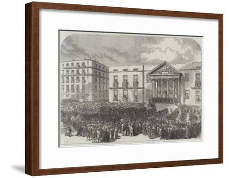 The Revolution in Spain, March Past of the Armed Populace before the Junta at Madrid-Charles Robinson-Framed Art Print