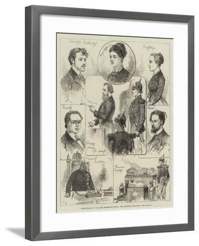 Assassination of the Late Emperor of Russia, the Condemned Prisoners-Charles Robinson-Framed Art Print