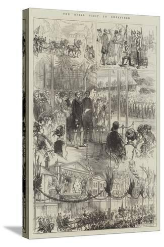 The Royal Visit to Sheffield-Charles Robinson-Stretched Canvas Print