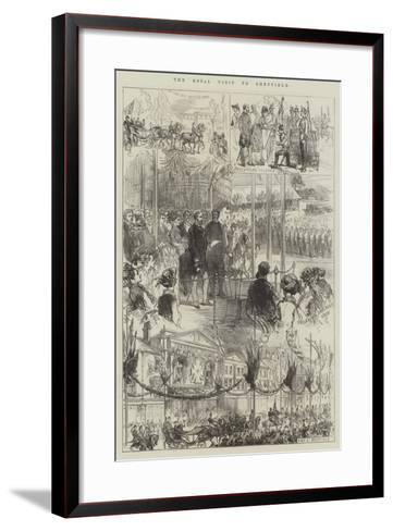 The Royal Visit to Sheffield-Charles Robinson-Framed Art Print