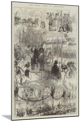The Royal Visit to Sheffield-Charles Robinson-Mounted Giclee Print