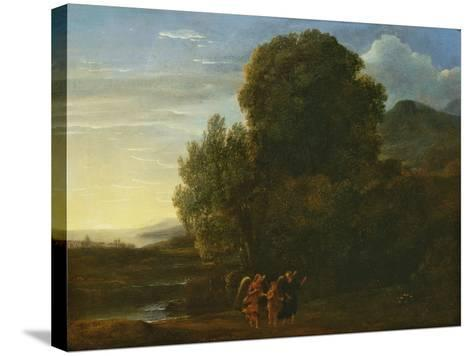 Landscape with St John the Baptist-Claude Lorraine-Stretched Canvas Print