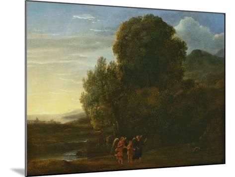 Landscape with St John the Baptist-Claude Lorraine-Mounted Giclee Print