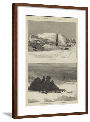 The North Pole Expedition-Charles Robinson-Framed Art Print