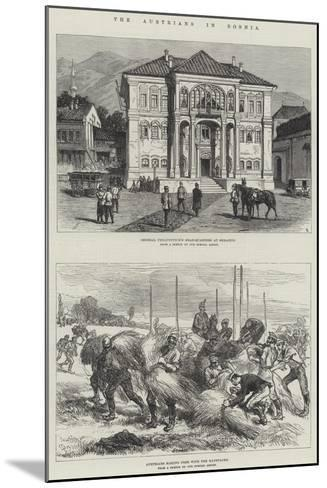 The Austrians in Bosnia-Charles Robinson-Mounted Giclee Print