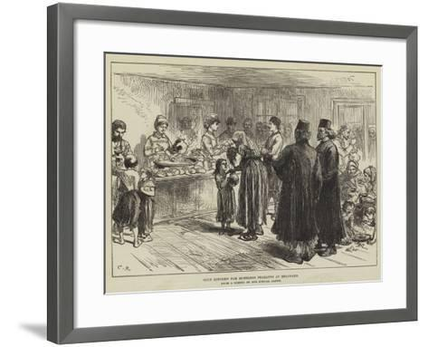 Soup Kitchen for Homeless Peasants at Belgrade-Charles Robinson-Framed Art Print