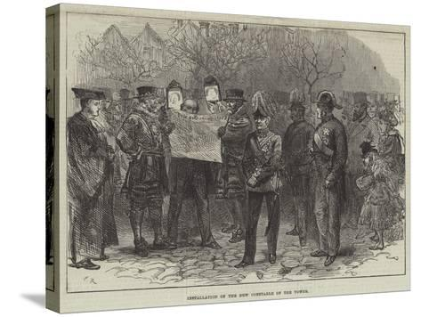 Installation of the New Constable of the Tower-Charles Robinson-Stretched Canvas Print