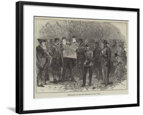 Installation of the New Constable of the Tower-Charles Robinson-Framed Art Print