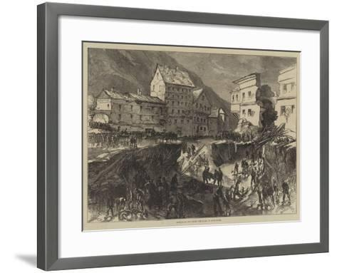 Effects of the Storm and Flood at Buda-Pesth-Charles Robinson-Framed Art Print