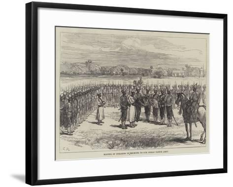 Manner of Swearing in Recruits to Our Indian Native Army-Charles Robinson-Framed Art Print