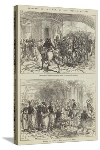 Sketches of the War-Charles Robinson-Stretched Canvas Print