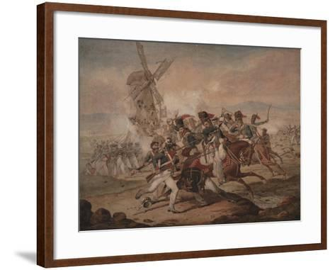 7th Queen's Own Hussars under Sir Edward Kerrison, Charging the French at Quatre Bras, 1818-Denis Dighton-Framed Art Print