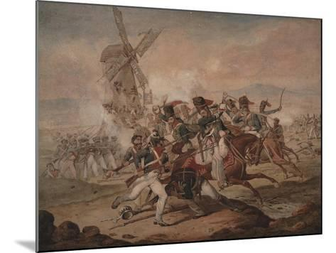 7th Queen's Own Hussars under Sir Edward Kerrison, Charging the French at Quatre Bras, 1818-Denis Dighton-Mounted Giclee Print