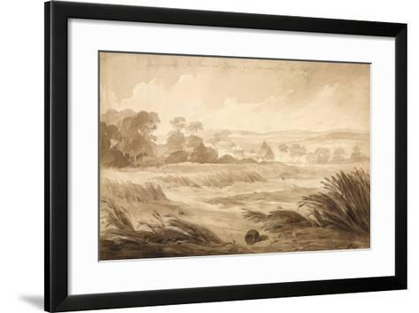 No 1 Hougomont the House and Farme Du - Gourman from the Right', 1815-Denis Dighton-Framed Art Print