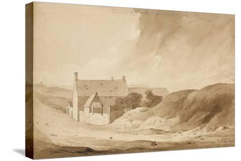 No 8 Farme De La Haie Sainte from Mount St John', 1815-Denis Dighton-Stretched Canvas Print