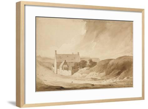No 8 Farme De La Haie Sainte from Mount St John', 1815-Denis Dighton-Framed Art Print