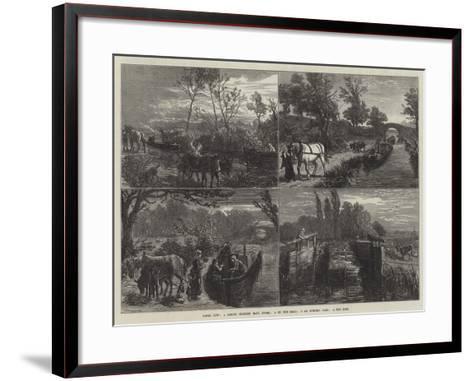 Canal Life-Ebenezer Newman Downard-Framed Art Print