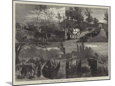 Canal Life-Ebenezer Newman Downard-Mounted Giclee Print