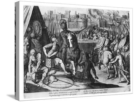 Charles Iii, Duke of Bourbon at the Sack of Rome in 1527-Cornelis Boel-Stretched Canvas Print