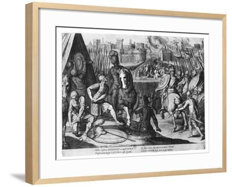 Charles Iii, Duke of Bourbon at the Sack of Rome in 1527-Cornelis Boel-Framed Art Print