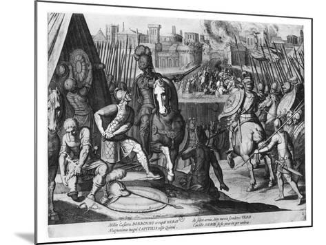 Charles Iii, Duke of Bourbon at the Sack of Rome in 1527-Cornelis Boel-Mounted Giclee Print