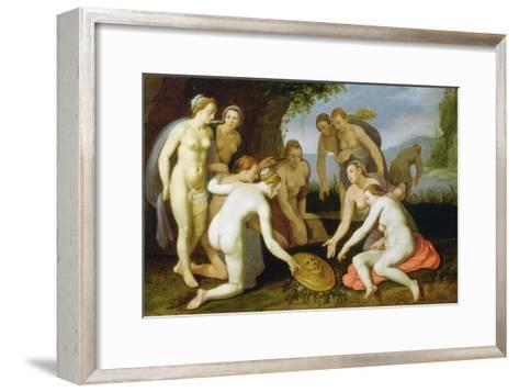A Scene from the Legend of Perseus and Andromeda-Cornelis Cornelisz^ van Haarlem-Framed Art Print