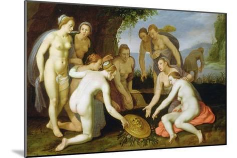 A Scene from the Legend of Perseus and Andromeda-Cornelis Cornelisz^ van Haarlem-Mounted Giclee Print